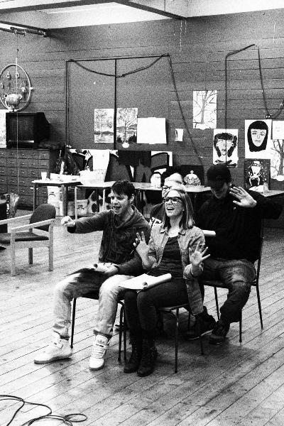 cast-rehearsing-van-scene